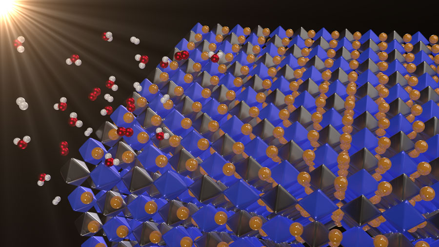 New Material for Splitting Water - AIP Publishing LLC