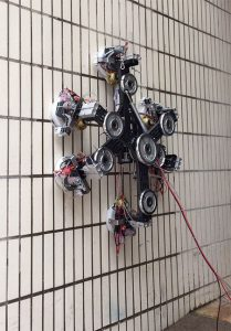 A wall-climbing robot uses the zero-pressure difference method to form suction. CREDIT: Xin Li and Kaige Shi