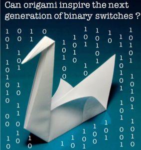 Origami-inspired binary switches CREDIT: M.F. Daqaq