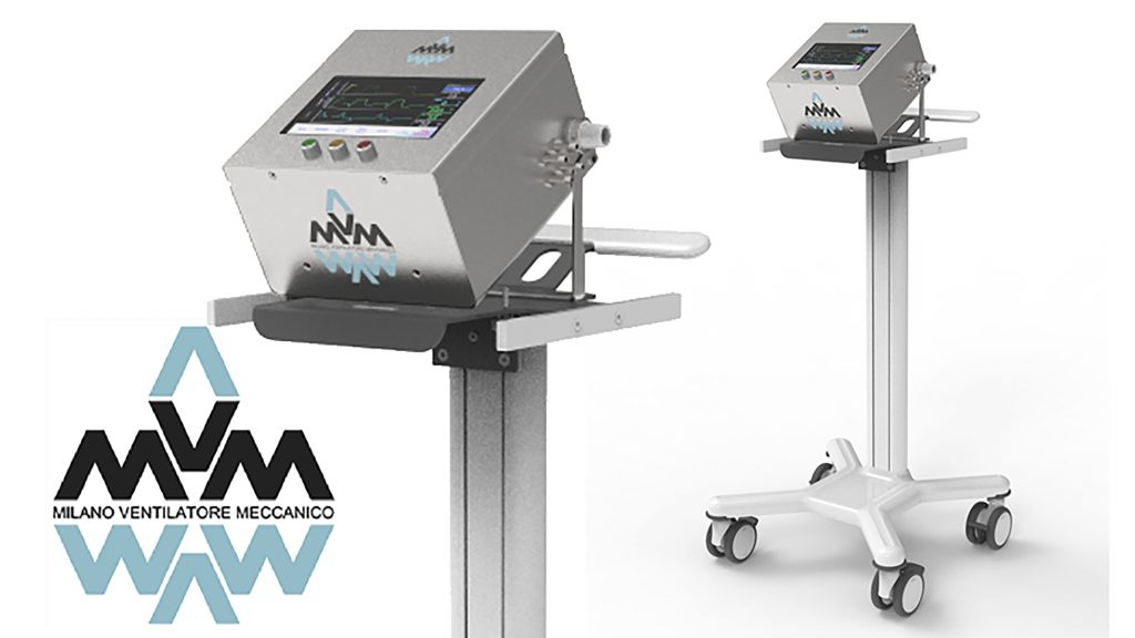 The Mechanical Ventilator Milano, developed by an international, interdisciplinary team, is inexpensive and simple to manufacture, and has received authorization from U.S. and Canadian agencies. CREDIT: MVM Collaboration