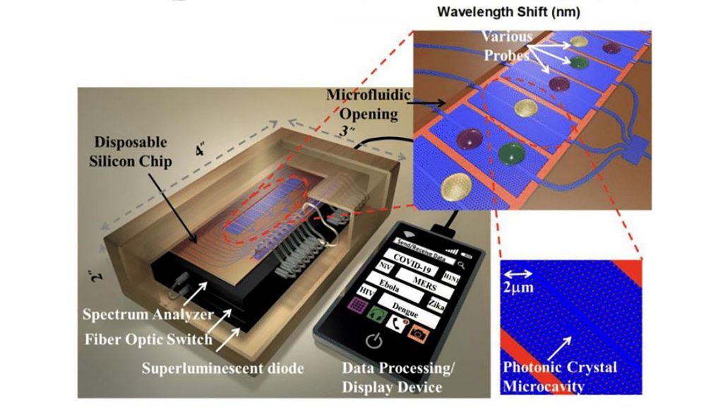 A sample optical detection platform for rapid COVID-19 diagnosis. CREDIT: Asghari et al.